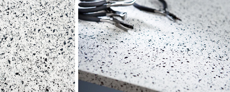 final benchtop choice: Silestone White Platinum