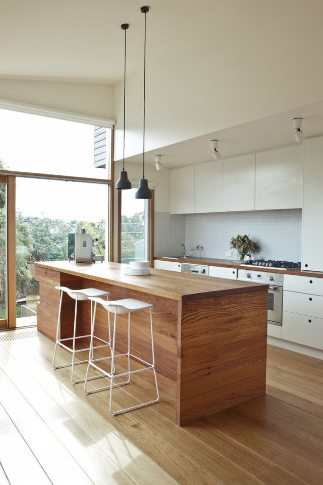 Mid-Centry modern style kitchen in Victoria, Australia, designed by  Doherty Design Studio