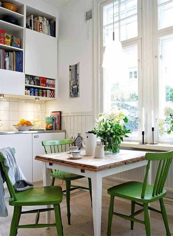 Greenery dining chairs