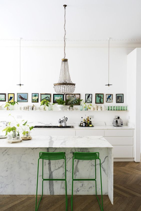 Greenery metal stools