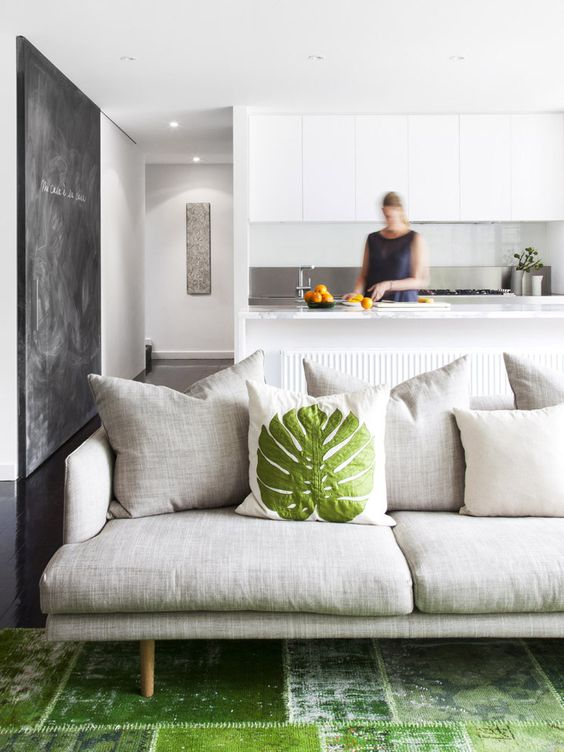 Greenery cushion & rug