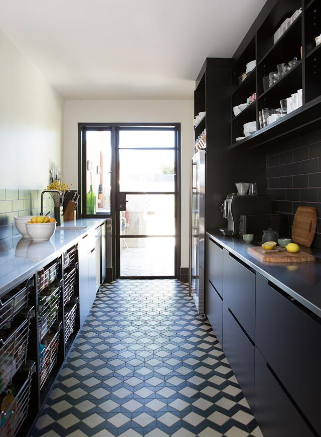 Talk about space. This separate scullery, by  Enoki , would rival the size of many modern kitchens. The tessellated  Winckelmans  tiles are a wonderful flooring choice.