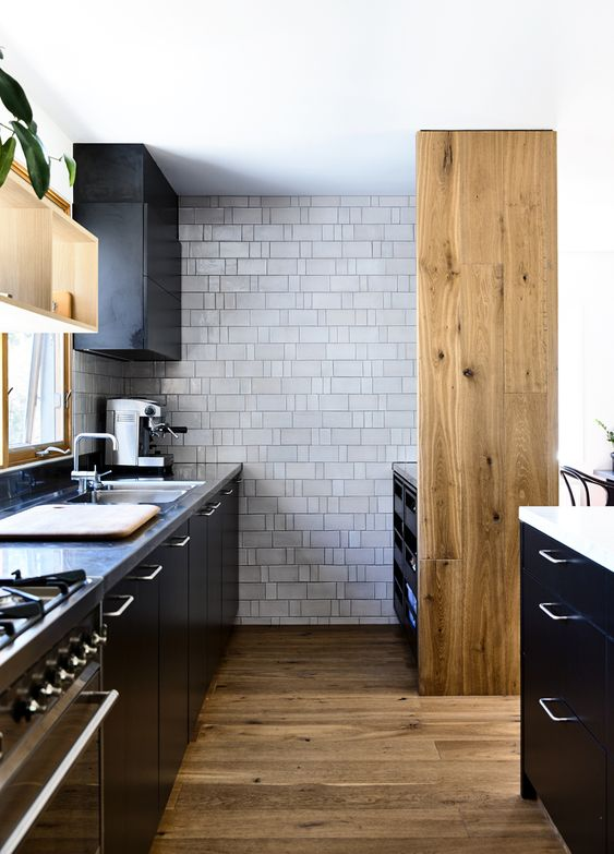 No entrance door in this pantry design, opens up the space and the kitchen feels bigger than it is. | designed by:  Austin Design