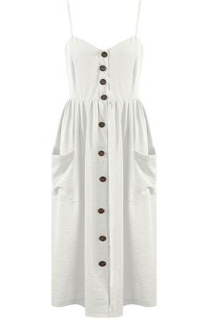 df6d189b51e Mila Midi Dress White