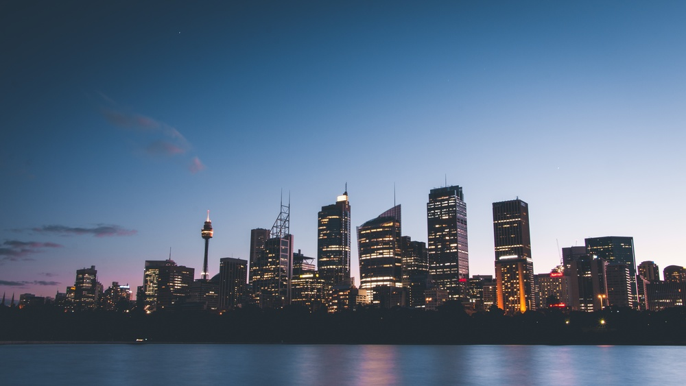 Sydney skyline from your commute home