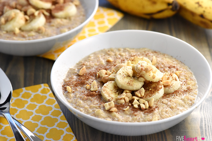 Peant Butter Banana Oatmeal - Five Heart Home.jpg