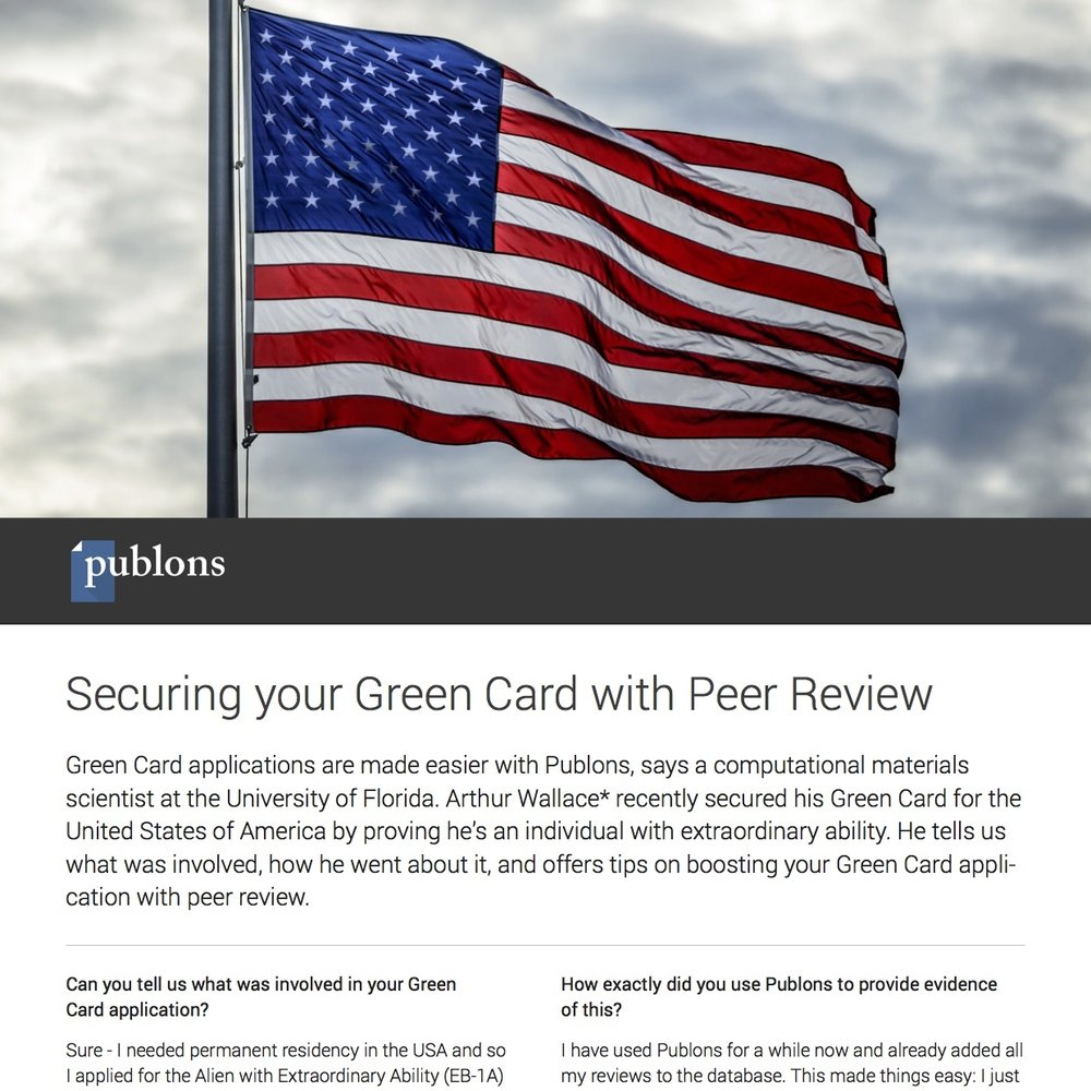 Securing your Green Card with Peer Review