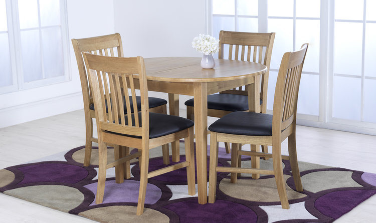 bb511000c5d6 Vida Cleo Extending Dining Table and 4 Dining Chairs — Best ...
