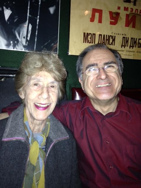 """Enrico Pieranunzi con Lorraine Gordon la leggendaria """"Signora del Vanguard"""" - Foto di Scott Colley - 2015"""