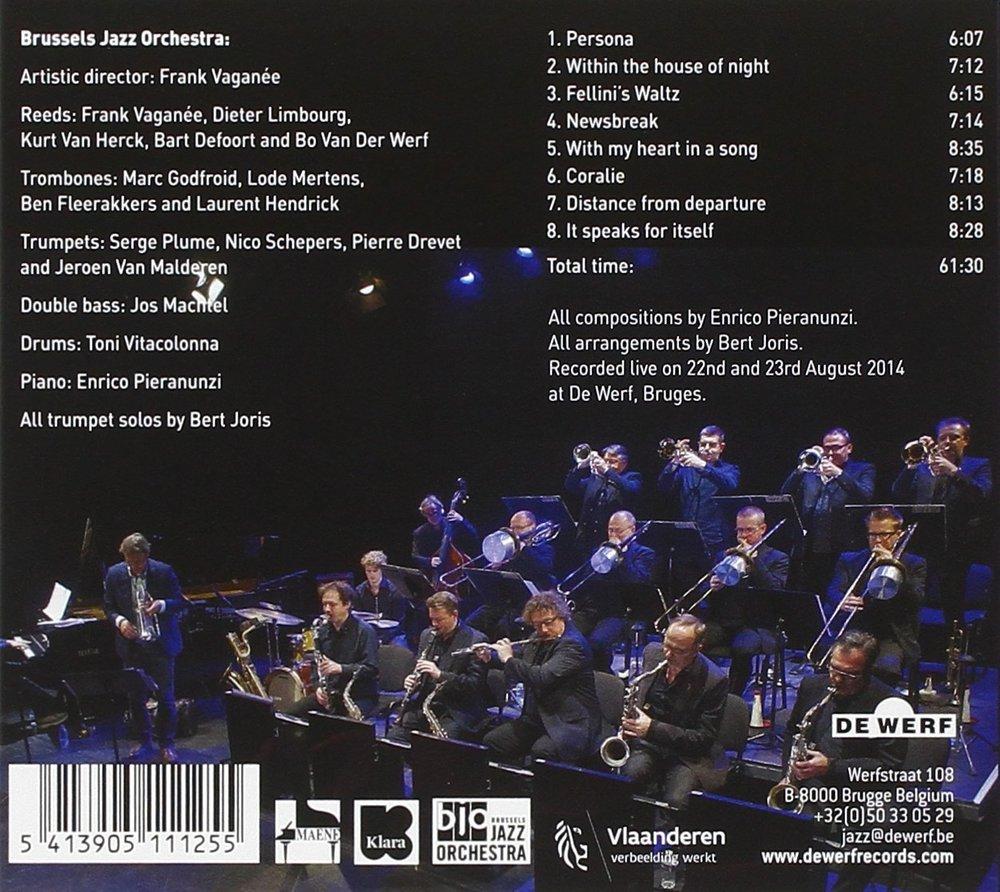 THE MUSIC OF ENRICO PIERANUNZI cd back