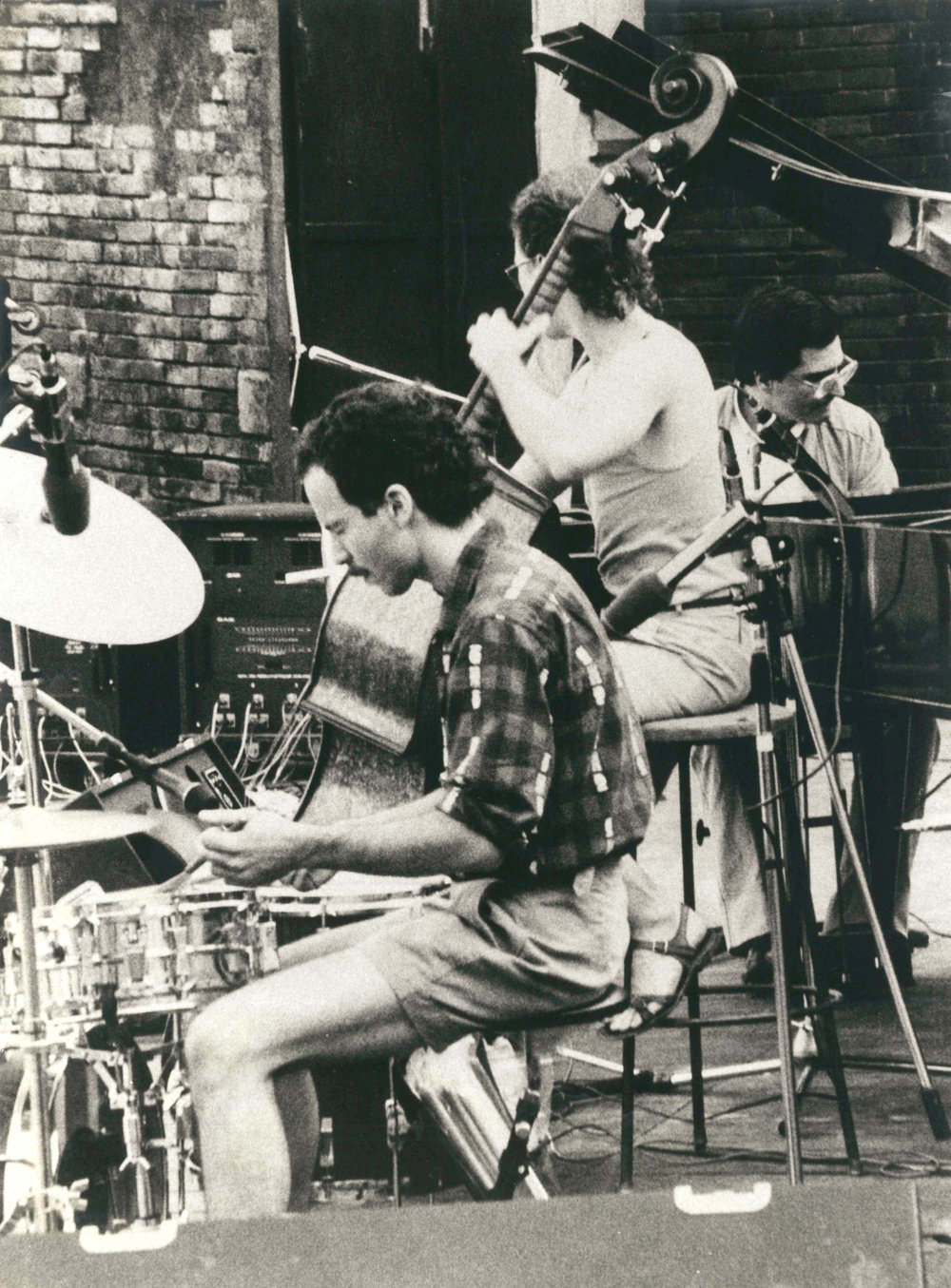 Joey Baron,   Marc Johnson  &  Enrico Pieranunzi  Ravenna 1984