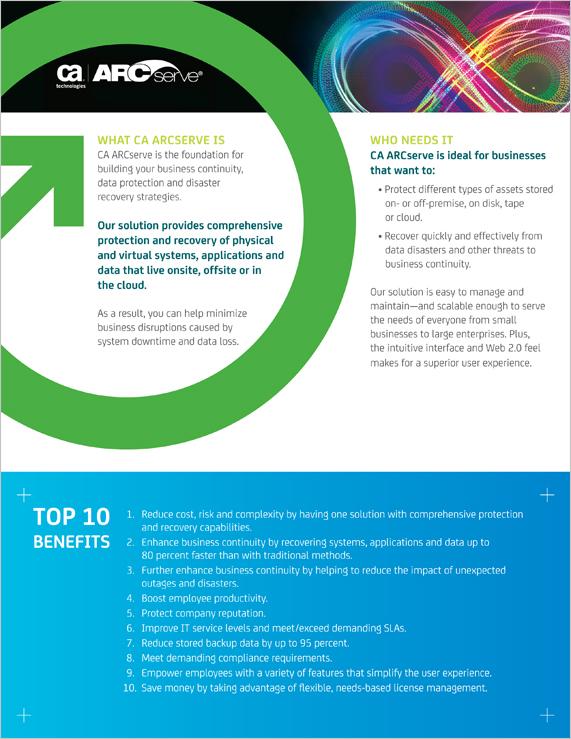 Sales Sheet   CA Technologies