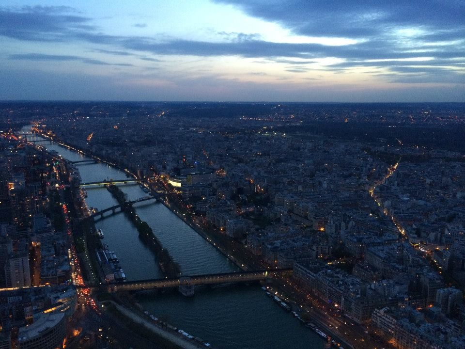 View of Paris from the top of the Eiffel Tower