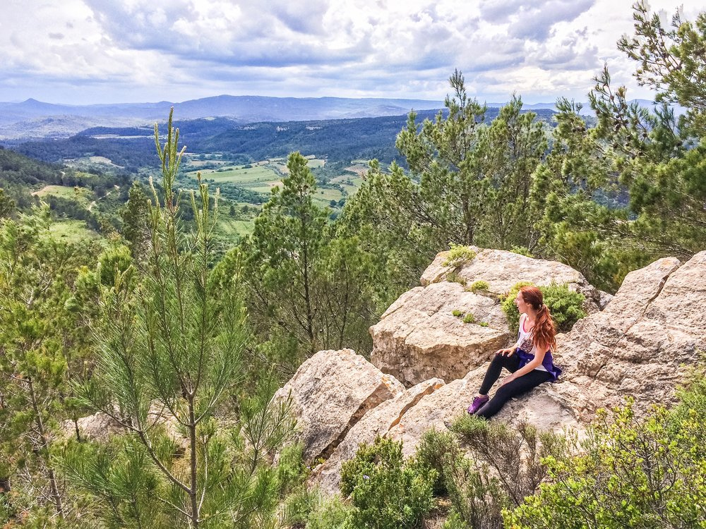 Hiking in Lagrasse, France