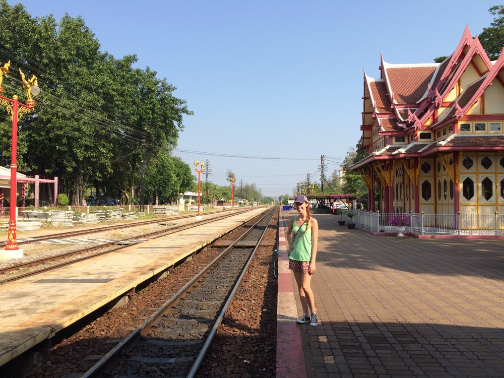 Train station in Hua Hin, Thailand
