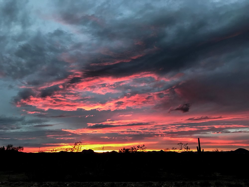 Desert sunset at Lake Pleasant in Arizona