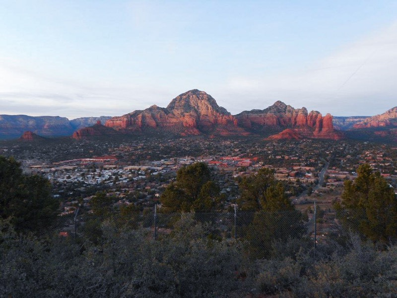 Gorgeous view of the red rocks from sedona airport overlook