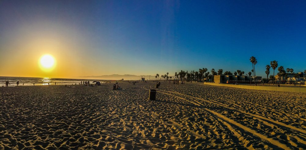 Sunset at Venice Beach