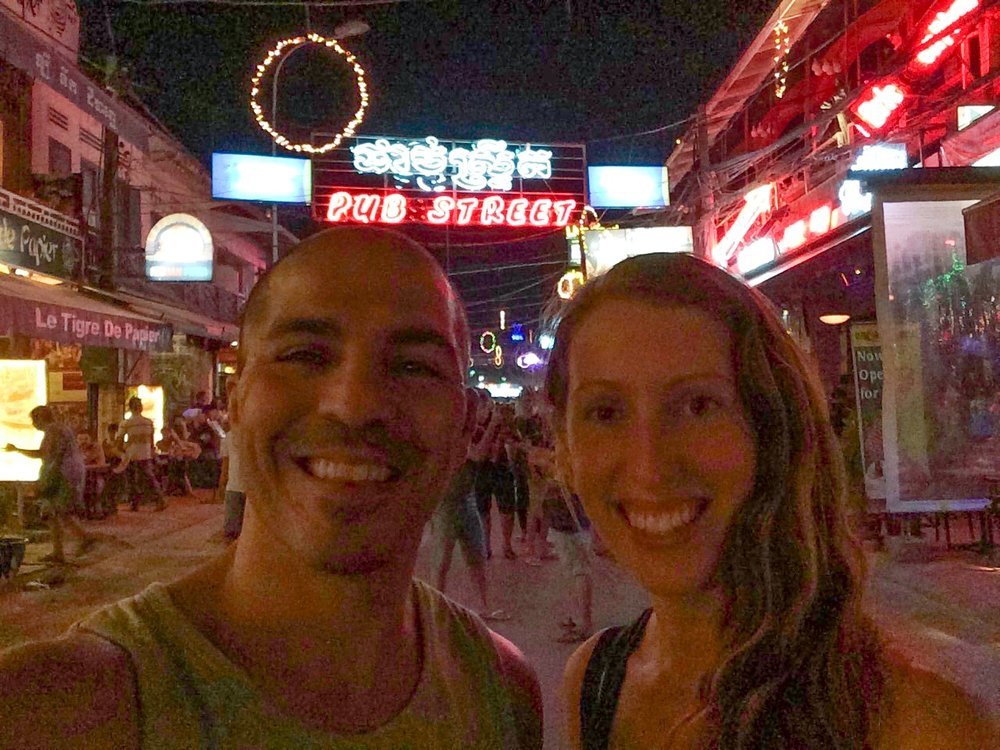 A final walk of Pub Street in Siem Reap