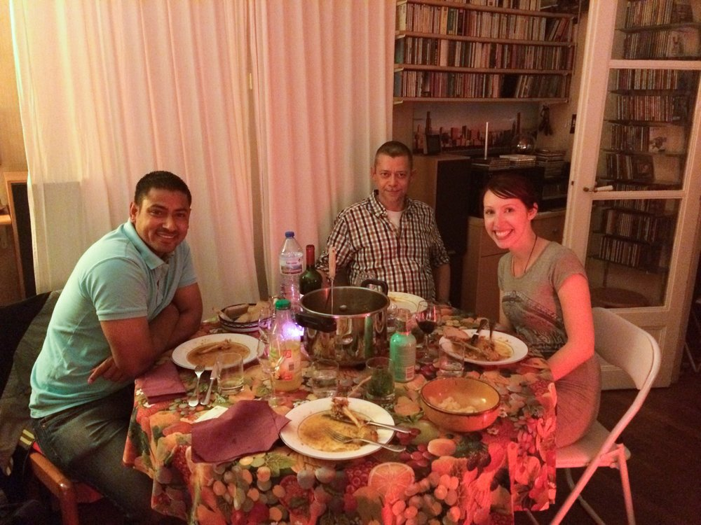 Indian dinner with Parisian Host