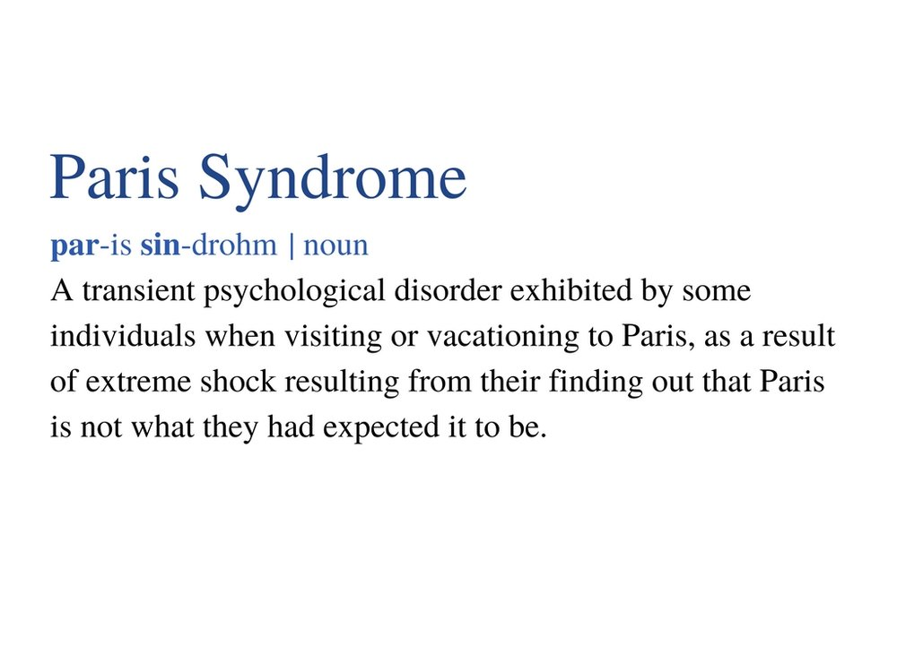 Paris Syndrome Definition
