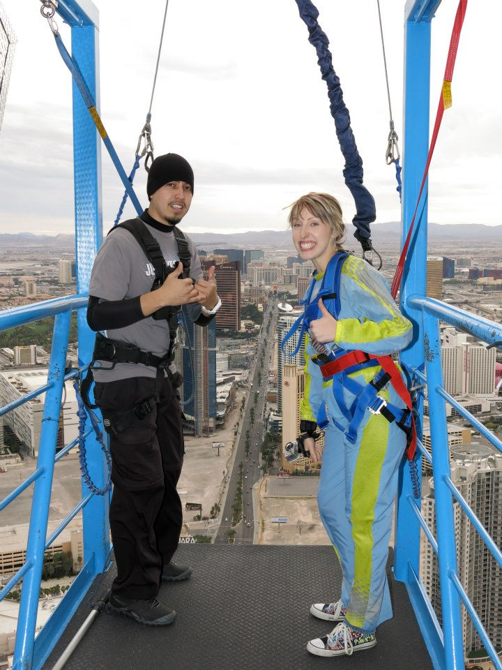 I said yes to jumping off the Stratosphere in Las Vegas!