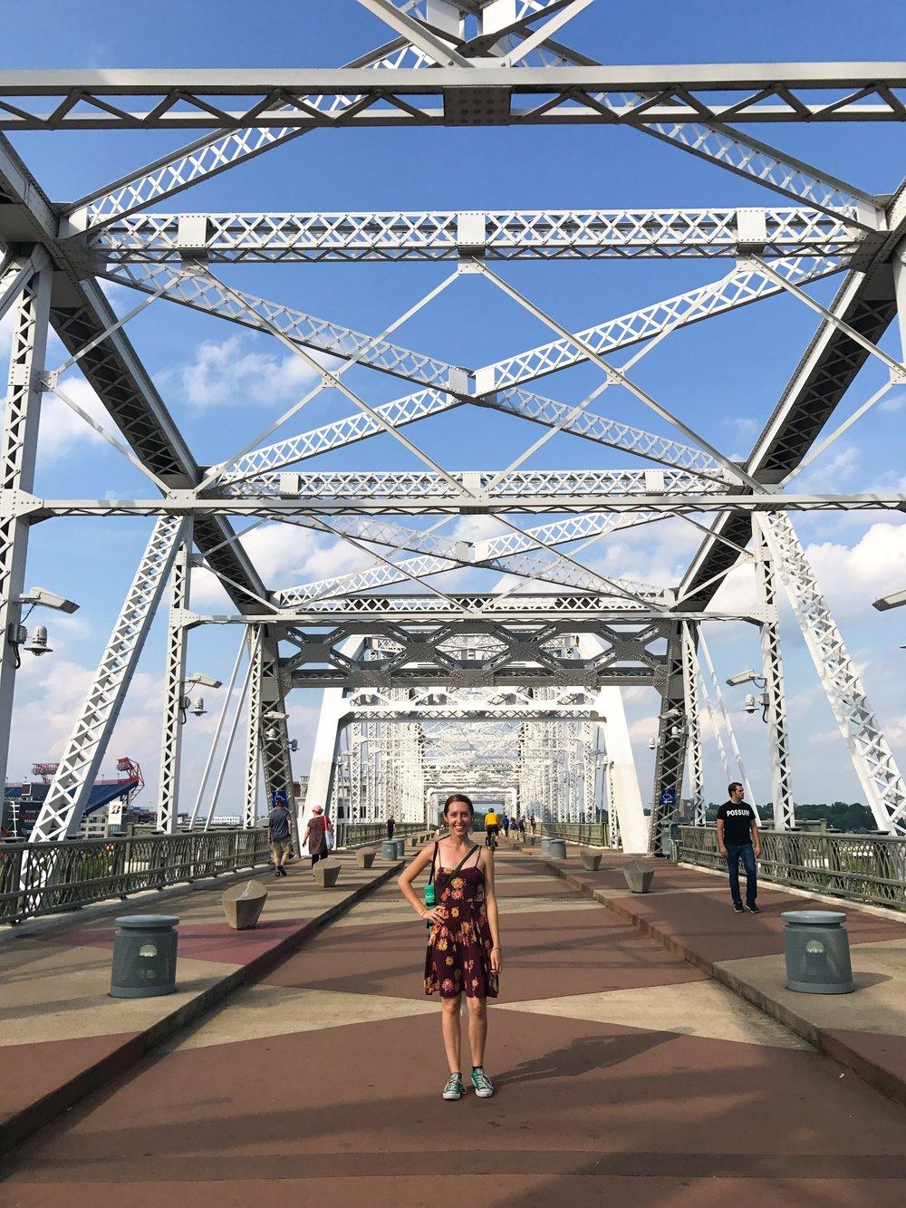 The pedestrian bridge