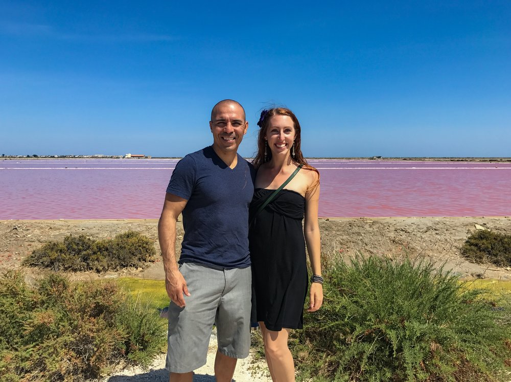 Pink Salt Flats France