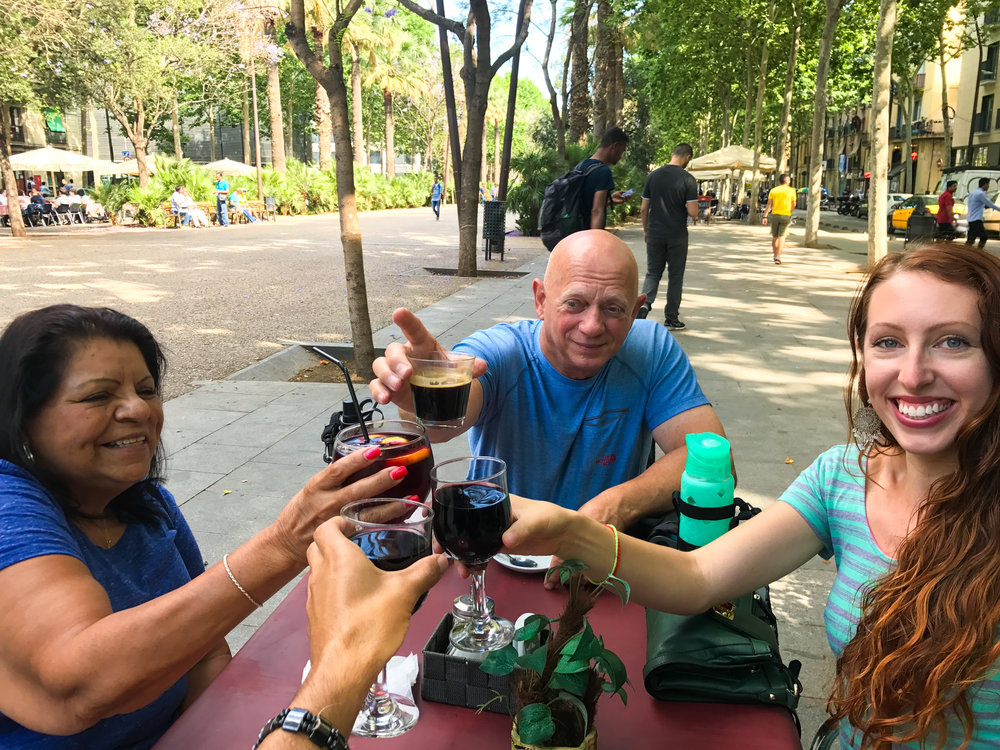 La Rambla Del Raval Barcelona Spain Sangria