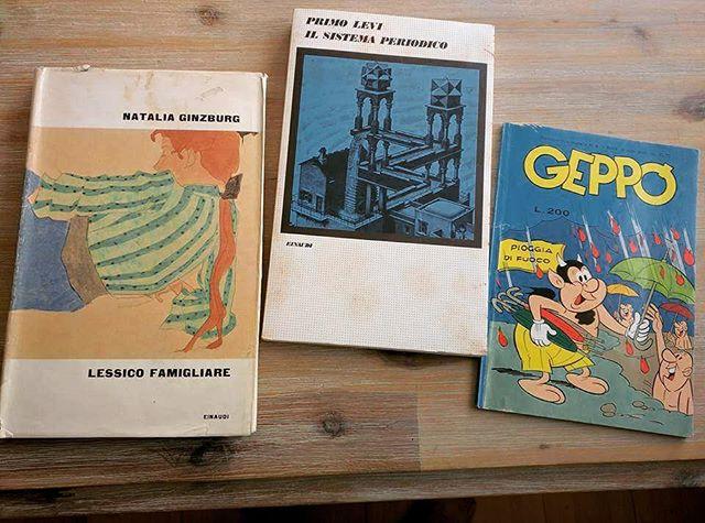 eBay: le prime edizioni di Primo Levi e Natalia Ginzburg  più un Geppo. #italianletterature #nataliaginzburg #primolevi #geppo #lessicofamiliare #libridaleggere #libribelli #primaedizione