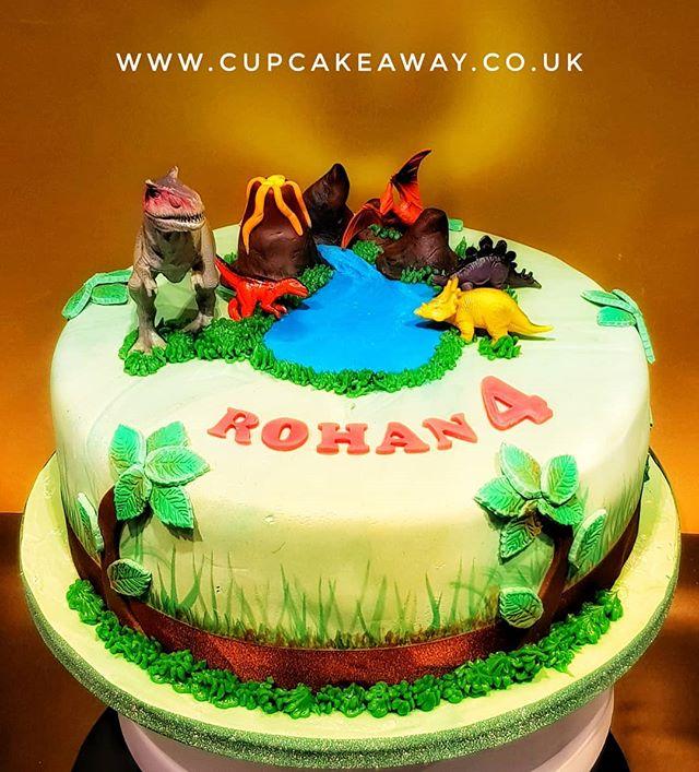 4th Birthday Cake For A Dinosaur Loving Little Boy Cupcake Away Birthdaycake