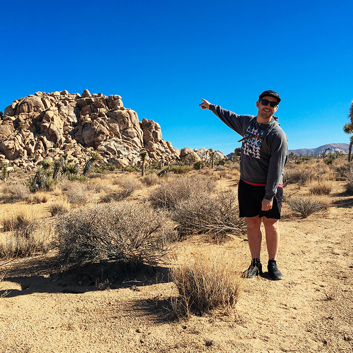 Playing with rocks   — Joshua Tree