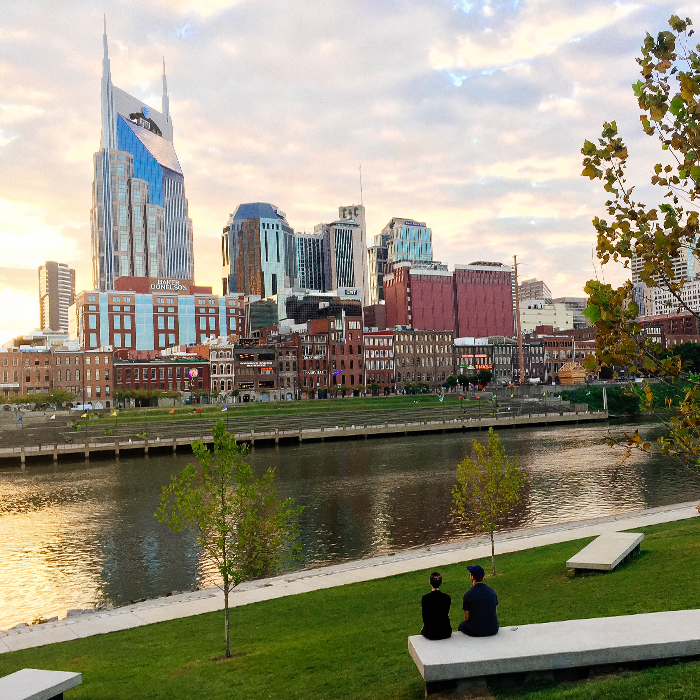 Sunset on the river  — Nashville