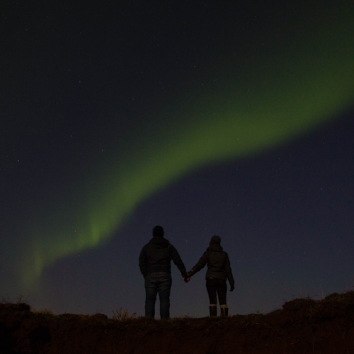 Lighting up the sky   — Iceland