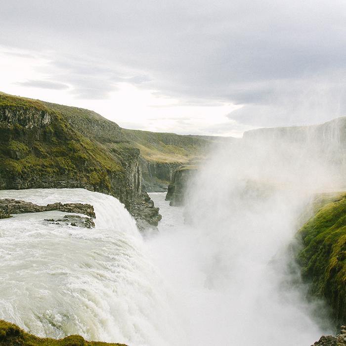 Misty falls  —  Gullfoss