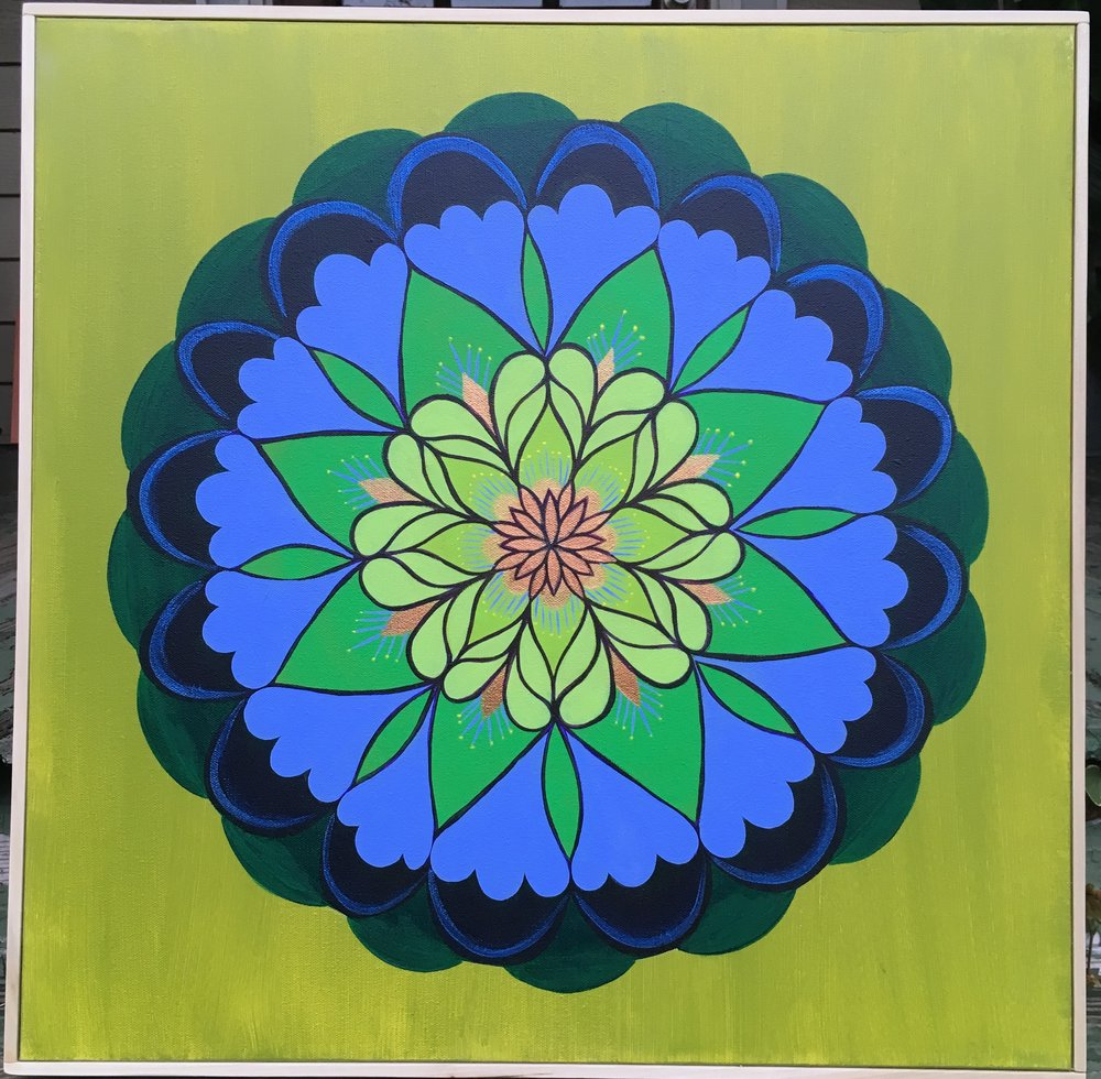 Art Sale Kick-Off! Enter to win a painting by Laura Lashley - Purchase raffle tickets to win this beautiful flower mandala! Drawing will be Friday, Dec. 21, at 5 pm. Raffle tickets are one for $5, or five for $20. To buy raffle tickets, go to the donate page, enter the amount you want to buy, and indicate in the message box how many tickets you are purchasing. You will receive ticket numbers by email and will be informed whether you have won on Dec. 21!