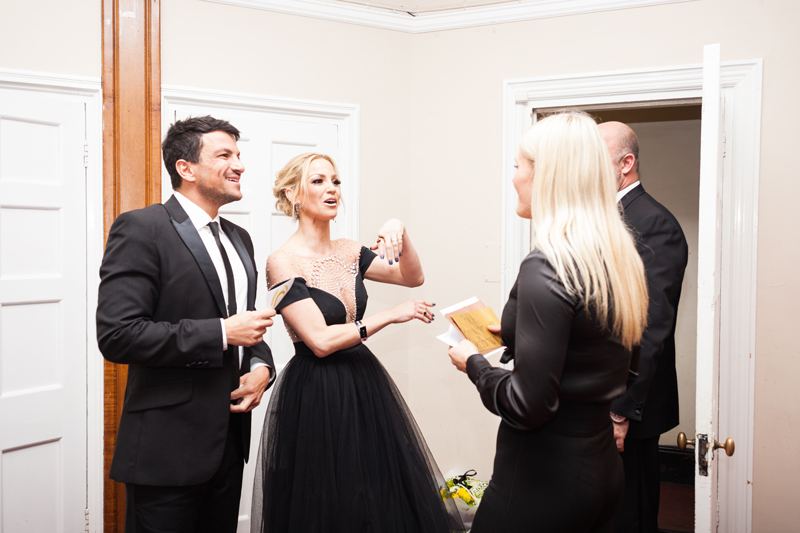 Peter Andre and Sarah Harding at the National Film Awards, 2018.