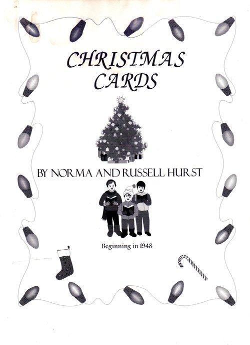 russell hurst family christmas cards 1948 1972