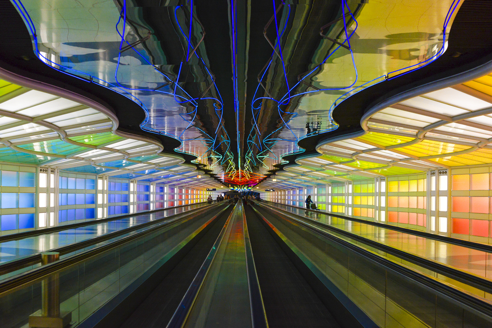 the moving walkway is never coming to an end