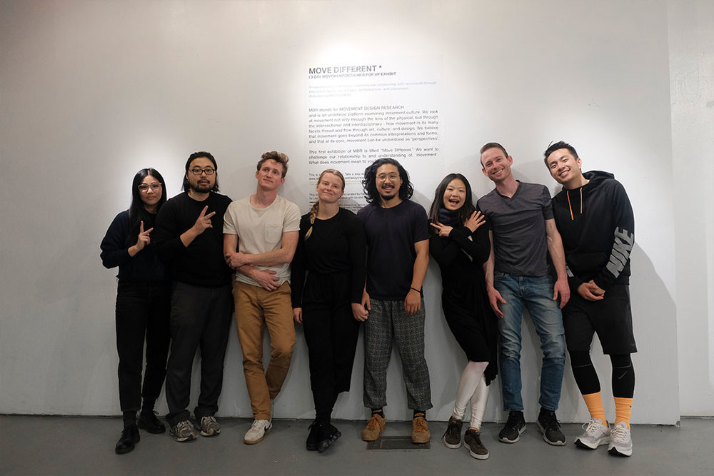 All MDR popup members and exhibitors - Admix Collective / Qiu Yi Wu / Stephen Duke / Andrew Kung / Vanessa Granda / Jannai Jones / Slate Werner / Kyle Mosholder