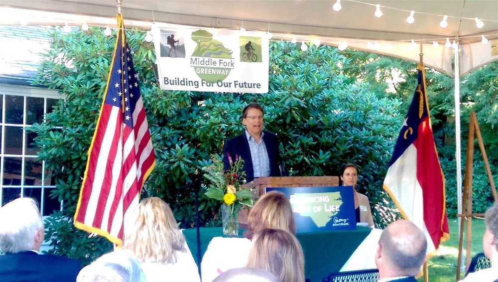 McCrory presents grant to Middle Fork Greenway