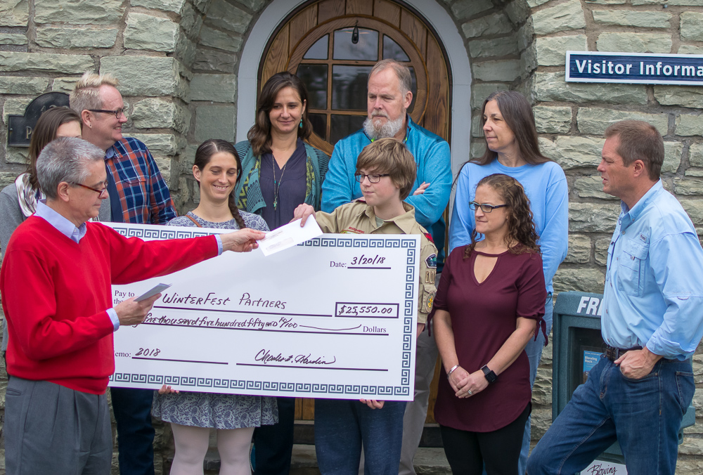 Blowing Rock Chamber hands out $25k+ in Winterfest proceeds