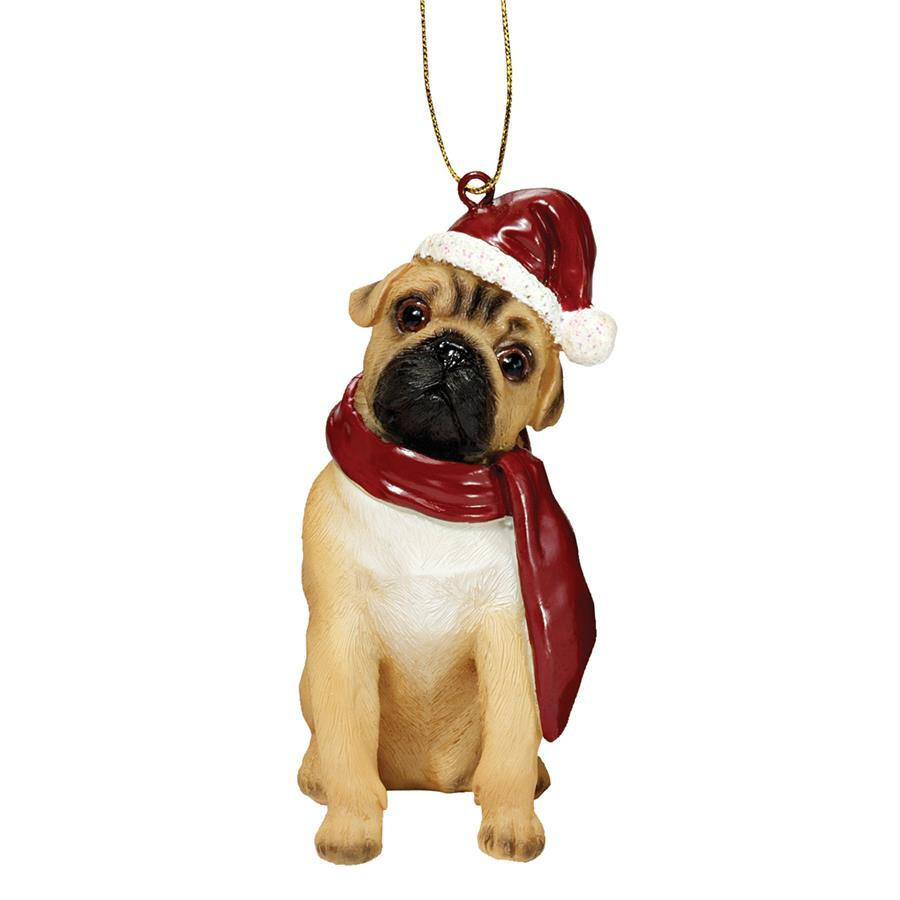 Large Pug Christmas Tree Decoration Two Woofs