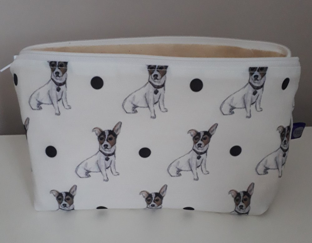d1f05368b32 Jack Russell Cosmetic Bag — Two Woofs