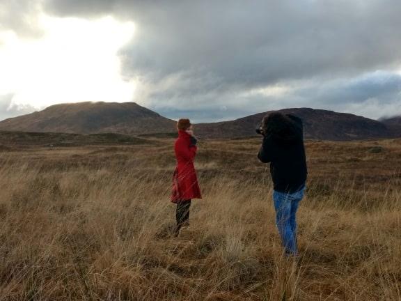 Red coat in rannoch moor
