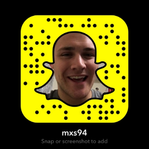 I love Snapchat. Feel free to add me and join my SnapFam. My username is @mxs94