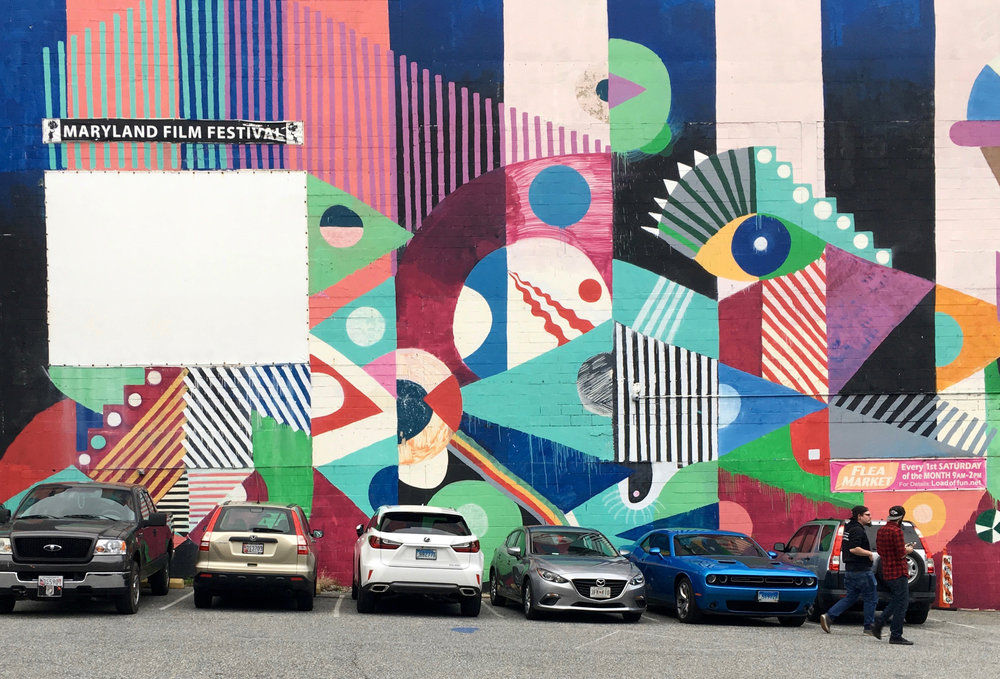 A mural in the Station North Arts & Entertainment District, Baltimore, Maryland. Photograph by Wen Li.