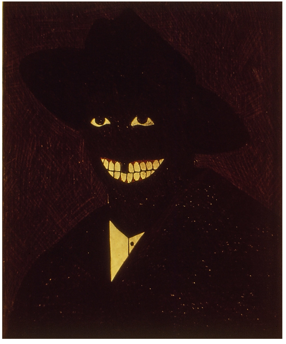 Kerry James Marshall,  Portrait of the Artist as a Shadow of his Former Self , 1981. Egg tempera on paper, 9 × 7 in. ©Kerry James Marshall. Courtesy of the artist and Jack Shainman Gallery, New York.