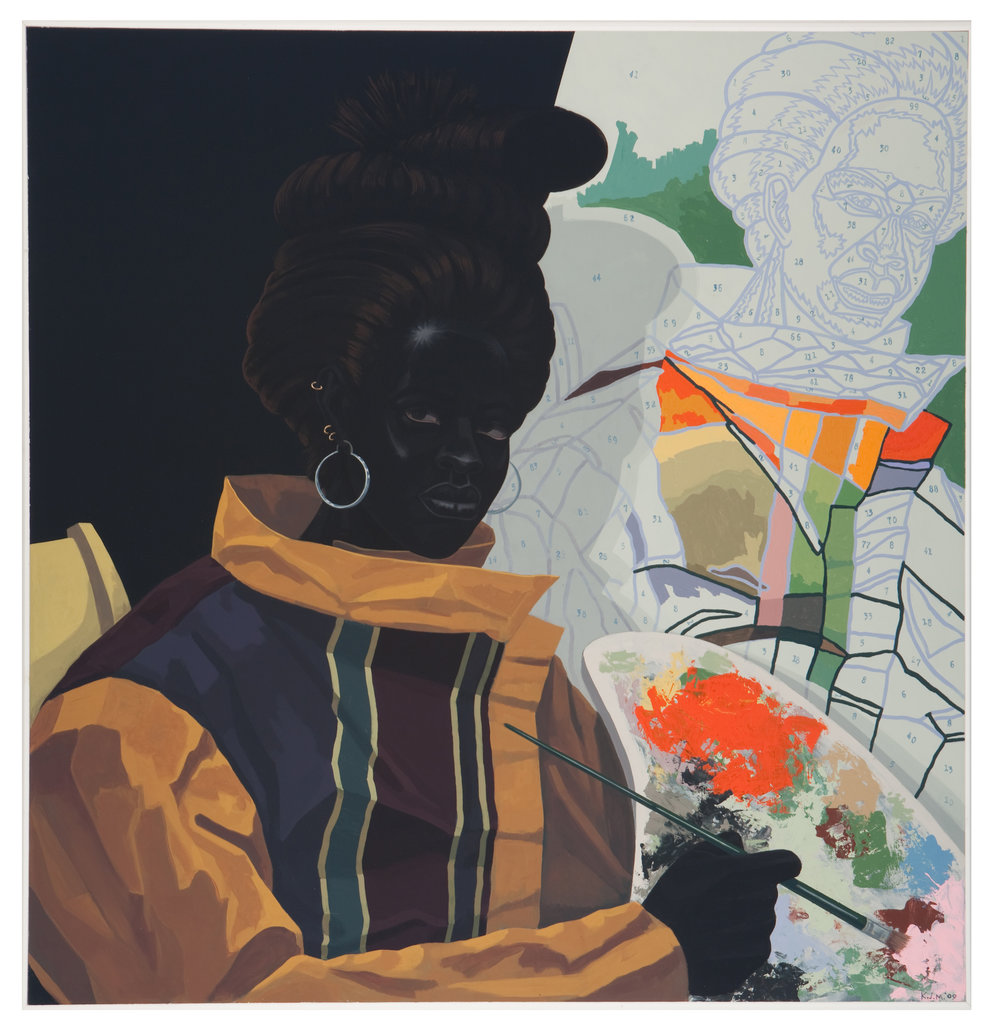 Kerry James Marshall,  Untitled (Painter) , 2009. Acrylic on pvc, 44 5/8 x 43 1/8 x 3 7/8 in. ©Kerry James Marshall.  Courtesy of the artist and Jack Shainman Gallery, New York.