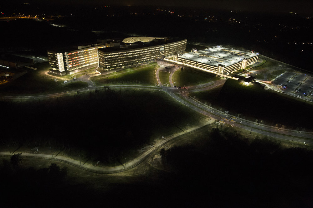 Trevor Paglen, aerial photo of National Geospatial-Intelligence Agency, 2013. Digital photograph, from Wikimedia Commons.